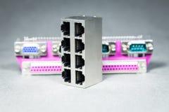 Conectores de la transmisión de datos Imagen de archivo