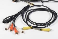 Conectores de RCA para o áudio e o vídeo Fotografia de Stock Royalty Free
