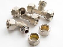 Conectores de Waterpipe imagem de stock