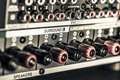 Conectores del amplificador imagen de archivo libre de regalías