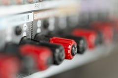 Conectores del amplificador imágenes de archivo libres de regalías