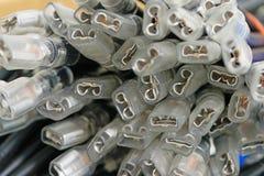 Conectores del componente eléctrico terminales Fotografía de archivo libre de regalías