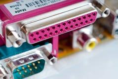Conectores del ordenador Imagen de archivo libre de regalías