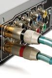 Conectores del RCA Fotos de archivo libres de regalías