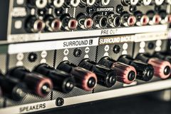 Conectores do amplificador imagem de stock royalty free