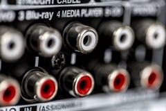 Conectores do amplificador imagens de stock royalty free