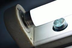 Conectores do close-up, acionadores de partida e ampolas Componentes do fotografia de stock royalty free
