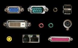 Conectores do computador imagem de stock