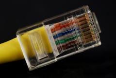 Conectores do Ethernet foto de stock