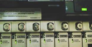 Conectores do sistema telefônico imagem de stock
