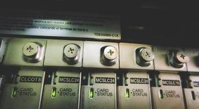 Conectores do sistema telefônico fotos de stock