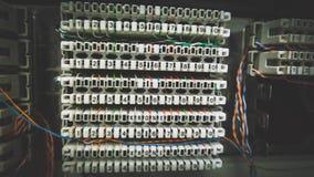 Conectores do sistema telefônico imagens de stock