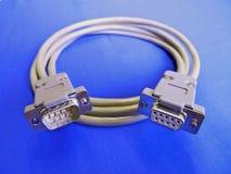 Conectores e cabo para a relação elétrica Imagens de Stock
