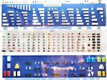 Conectores e interruptores na loja fotos de stock