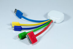 Conectores e soquetes para o PC fotografia de stock
