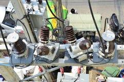 Conectores elétricos foto de stock
