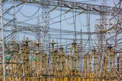 Conectores elétricos da estação da distribuição elétrica imagens de stock