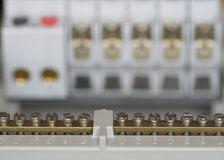 Conectores elétricos de Fusebox Fotos de Stock
