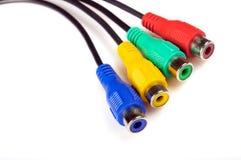 Conectores en diversos colores Foto de archivo