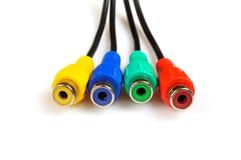 Conectores en diversos colores Fotos de archivo