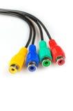 Conectores en diversos colores Imagen de archivo libre de regalías