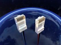 Conectores en el cielo Fotografía de archivo libre de regalías