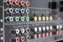 Conectores en el receptor del sistema de pesos americano Imágenes de archivo libres de regalías