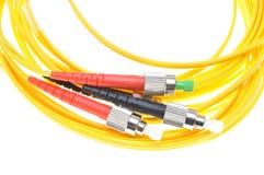 Conectores FC padrão da fibra óptica imagem de stock