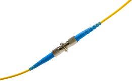Conectores Fiber-optic fotografia de stock