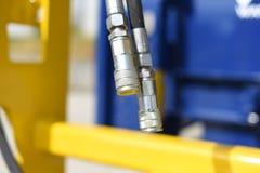 Conectores hidráulicos fotografía de archivo libre de regalías