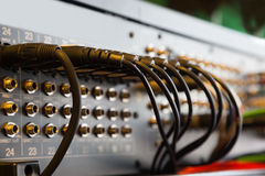 Conectores incluídos no misturador audio Imagens de Stock