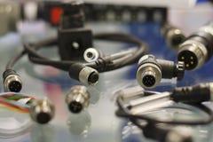 Conectores industriales del sensor Fotografía de archivo libre de regalías