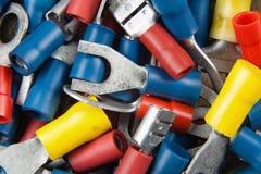 Conectores para a instalação elétrica nos carros Imagem de Stock