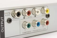 Conectores posteriores de Dvd Imagenes de archivo