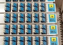Conectores ópticos del LC de fibra Imagen de archivo libre de regalías
