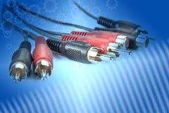 Conectores RCA de la cincha para el audio y el vídeo fotos de archivo libres de regalías