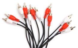 Conectores vermelhos e brancos Imagens de Stock Royalty Free
