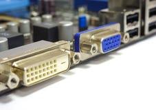 Conectores video Imagens de Stock