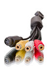 Conectores video e audio imagens de stock