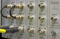 Conectores y cables de BNC Imagen de archivo libre de regalías