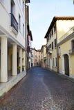 Conegliano city. Empty street and historical buildings in Conegliano Veneto, in Veneto, Treviso province, in north Italy, Europe Stock Photo
