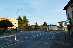 Conegliano city, streets Royalty Free Stock Photography