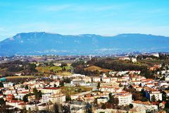 Conegliano city, view from the Castello on Colle di Giano Stock Images