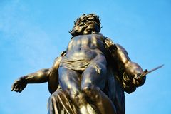 Conegliano, memorial statue agaist the sky, detail Royalty Free Stock Image
