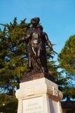 Conegliano, memorial statues. Beautiful detail of the famous memorial statues against the blue sky and trees, in Conegliano Veneto city, in Veneto, Treviso Stock Image