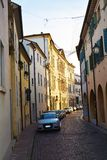Conegliano street and buildings, Treviso province Stock Photography