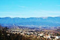 Conegliano Venetien und Panoramablick, Italien lizenzfreie stockfotografie