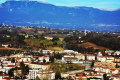 Conegliano Veneto and colle di Giano, panoramic view, Italy Royalty Free Stock Images