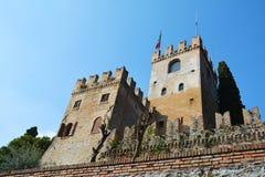 Conegliano, Veneto, Italy. Towers of Castello, the most famous castle in Conegliano, in the province of Treviso, north Italy Stock Image