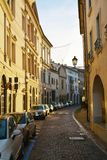 Conegliano Veneto, street and historical buildings, detail Royalty Free Stock Images